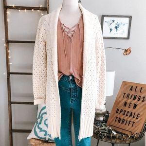 Cozy Cream Chunky Knit Cardigan